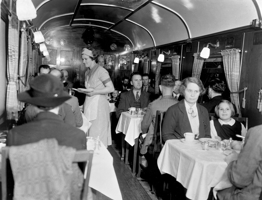 Meal Service onboard the Sunshine Express
