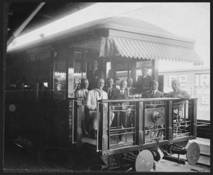 Sunshine Express Parlour Car Viewing Platform (Courtesy of QR Historical Collection)
