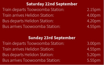 Toowoomba-Helidon-departure-times