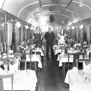 Publicity Photo of Sunshine Express Dining Car